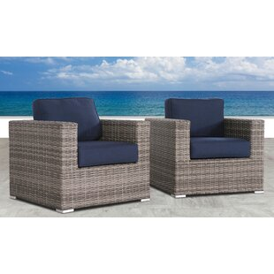 Fears Resort Grade Club Patio Chair with Sunbrella Cushions (Set of 2)