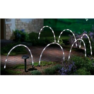 Hardison Arched Tube Solar Powered 8-Light LED Decorative And Accent Light (Set Of 6) Image