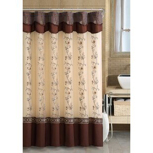 Savings Searcy Embroidered Semi-Sheer Shower Curtain By Fleur De Lis Living