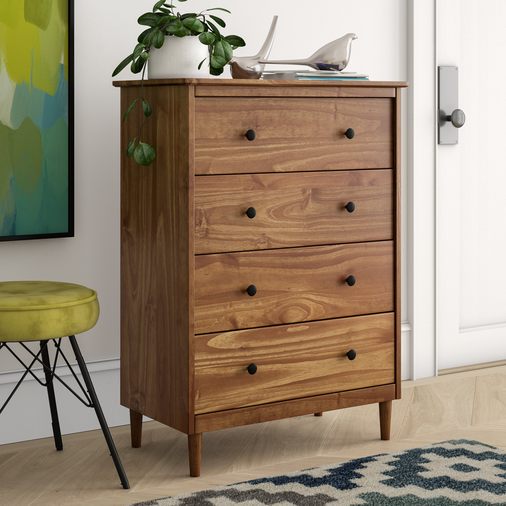 Solid Wood Tall Dressers Chests Free Shipping Over 35 Wayfair