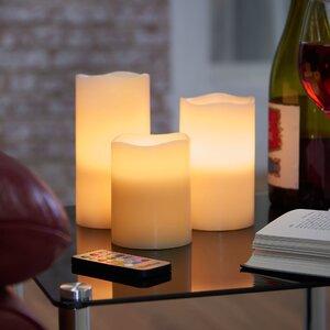 3 Piece Flameless Candle Set