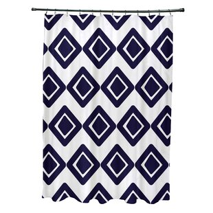 Doretta Diamond Hypoallergenic Single Shower Curtain