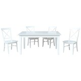 Willem 5 Piece Extendable Solid Wood Dining Set by August Grove®