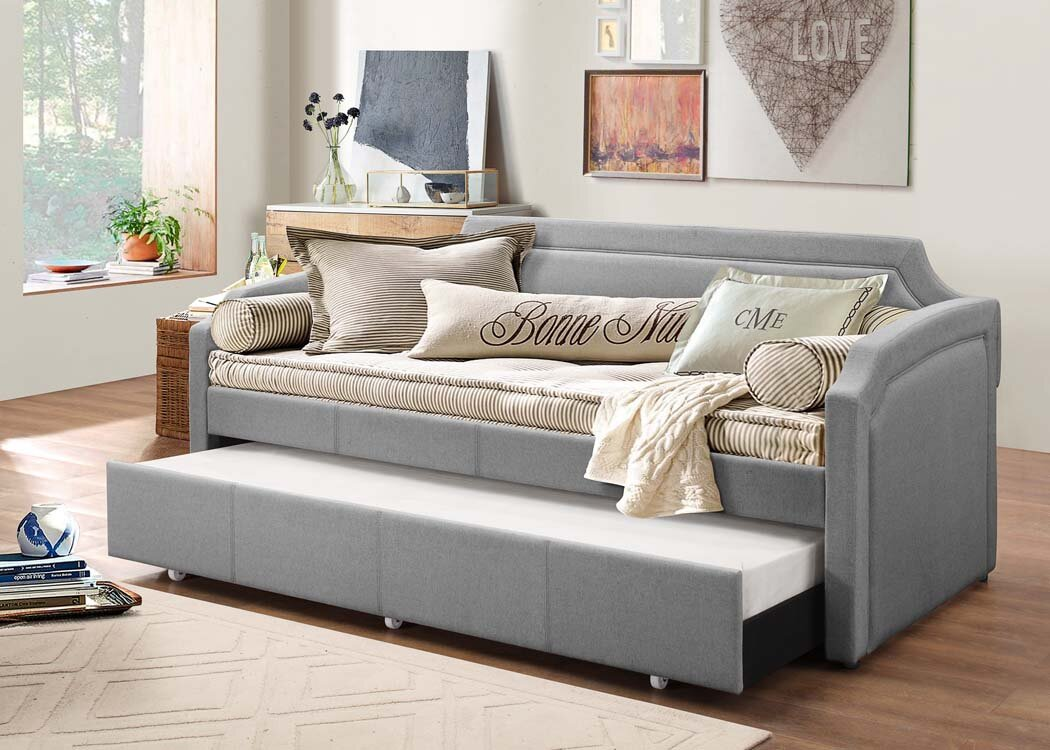 Wayfair Headboards Queen: Latitude Run Marnie Daybed With Trundle & Reviews