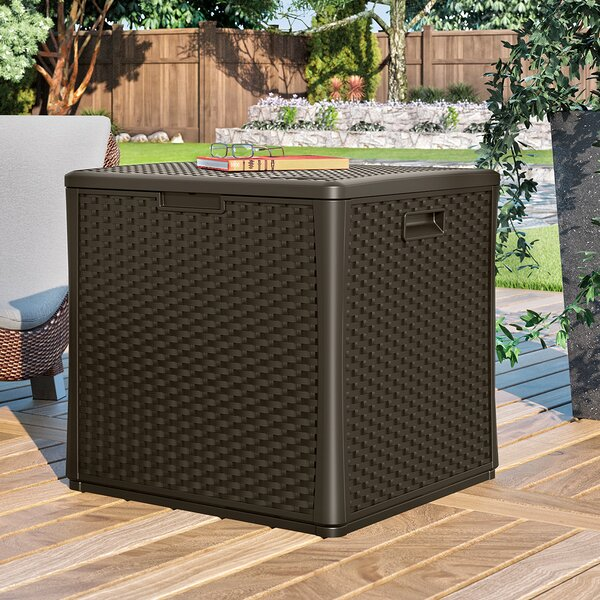 Wicker Cube Storage Box | Wayfair.co.uk