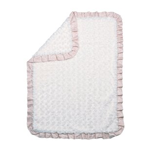 Where buy  Rosewater Glam Ruffled Rosette Baby Blanket By Trend Lab