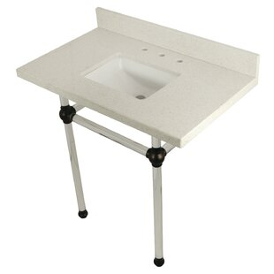 Kingston Brass Templeton Stone Rectangular Undermount Bathroom Sink with Overflow