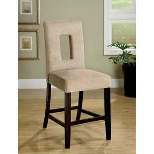Bloomsbury Market Almond Counter Height Upholstered Dining Chair (Set of 2)