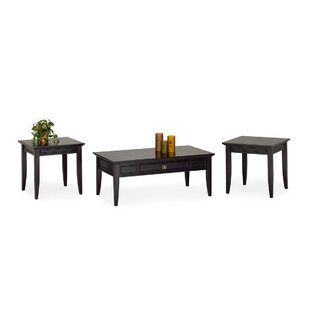 Winston Porter Dunnell 3 Piece Coffee Table Set