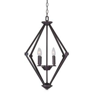 Wrought Studio Khronos 4-Light Geometric Chandelier