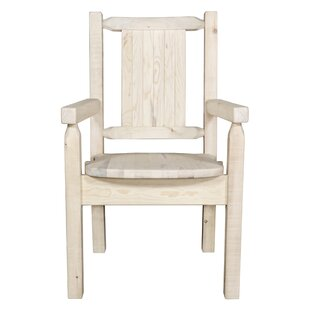 Abella Hand-Crafted Captain's Solid Wood Dining Chair