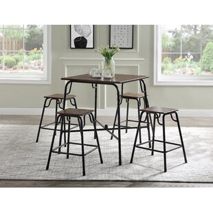 Isaak 5 Piece Dining Set by 17 Stories