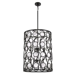Bungalow Rose Harrietta 8-Light Cylinder Pendant