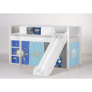 Antwan European Single Mid Sleeper Bed With Curtain By Harriet Bee