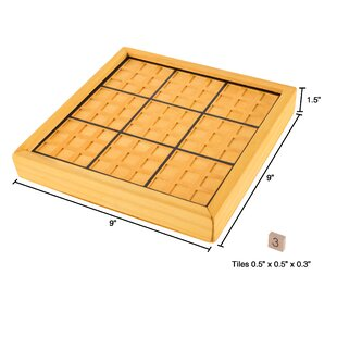 Wood Sudoku Board Game Set by Hey! Play!