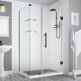 Bromley GS Frameless 34.38 x 72 Rectangle Hinged Shower Enclosure by Aston