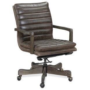 Hooker Furniture Langston Genuine Leather..