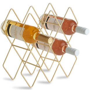 Freestanding 10 Bottle Tabletop Wine Rack