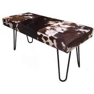 Cowhide Bench by Foundry Select
