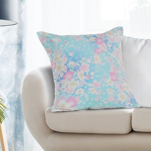 Blouin Floral Print 100% Cotton Throw Pillow