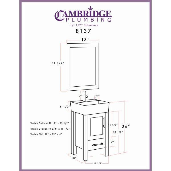 Latitude Run Secrist 18 Single Bathroom Vanity Set With Mirror Wayfair