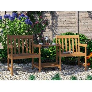 ilka wooden love seat - Garden Furniture Love Seat