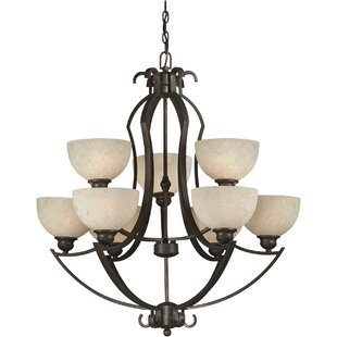 Winston Porter Vanzandt 9-Light Shaded Chandelier