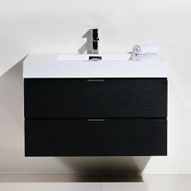 Tenafly 36 Single Wall Mount Bathroom Vanity Set