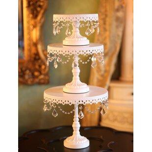 3 Piece Chandelier Cake Plate Stand Set  sc 1 st  Wayfair & Small White Cake Stand   Wayfair