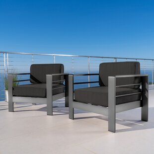 Royalston Aluminum Chair with Cushions (Set of 2) by Brayden Studio