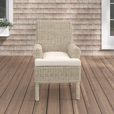 Enrico Patio Dining Chair with Cushion Highland Dunes Color: Cast Shale
