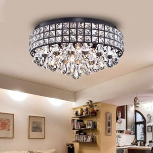 House of Hampton Wolfforth 4-Light Flush Mount