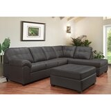 Yarber Right Hand Facing Leather Sectional with Ottoman by Red Barrel Studio®