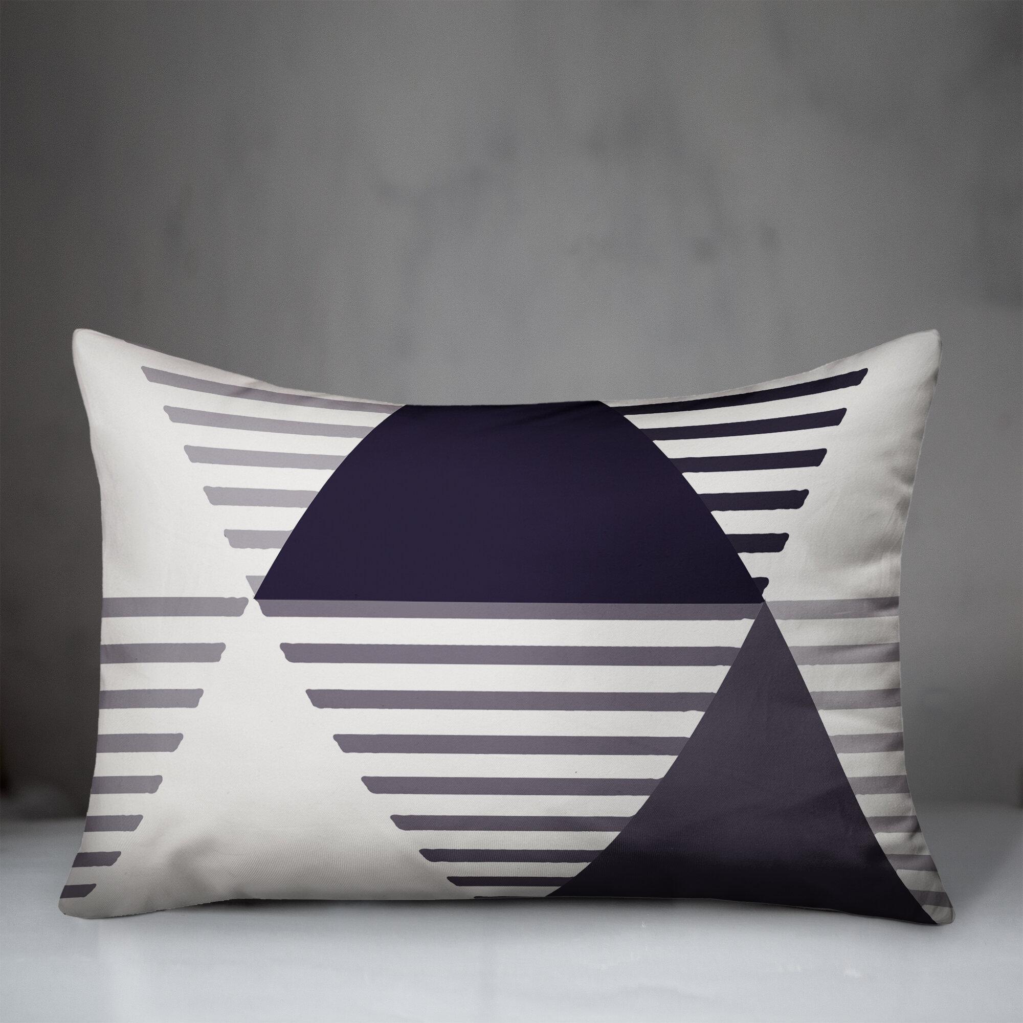 Latitude Run Alecsandra Indoor Outdoor Geometric Lumbar Pillow Wayfair