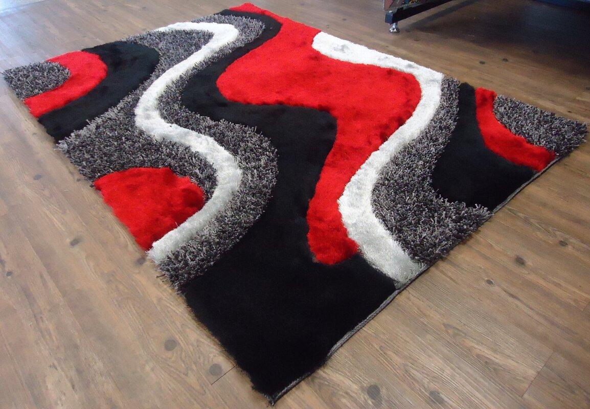 Rug Factory Plus Hand Tufted Black Red Area Rug Reviews Wayfair
