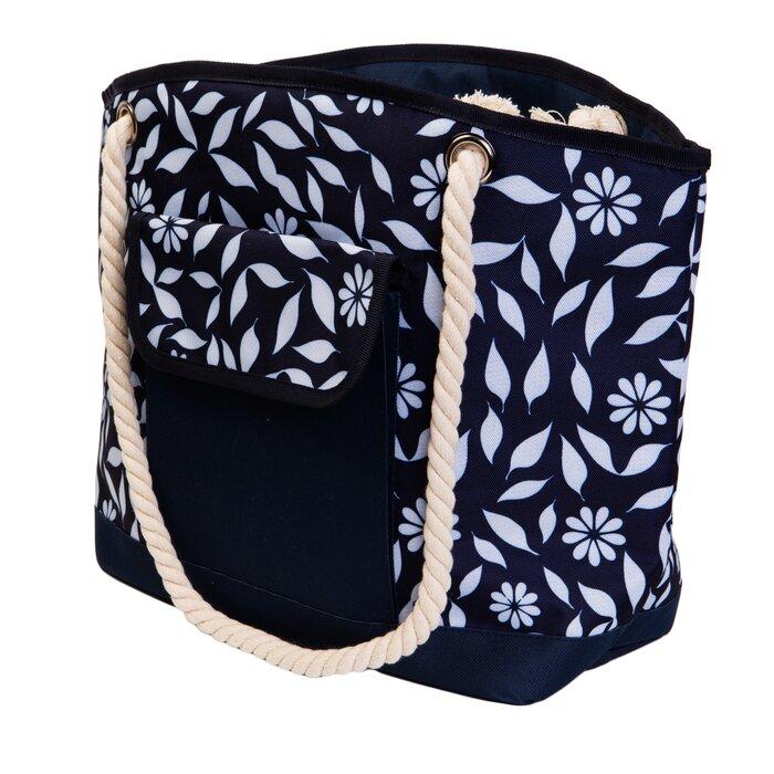 Insulated Beach Fl Picnic Tote Bag