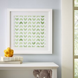 'Chevron Repeat Pattern' Framed Print