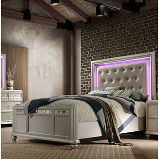 Drage Light Panel Bed by Rosdorf Park No Copoun