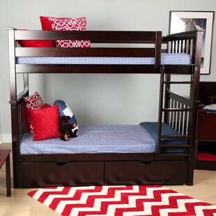 Absecon Twin over Twin Bunk Bed with Under Bed Storage Drawer