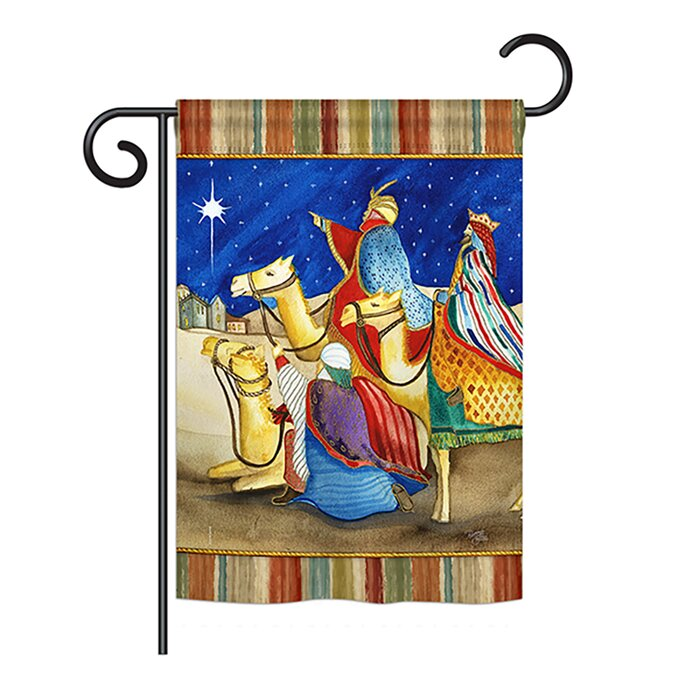 Three Kings Winter 2 Sided Polyester 1 X 5 Garden Flag