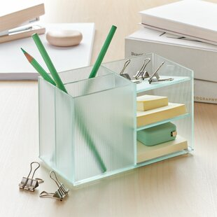Glass Desktop Organization You Ll Love In 2021 Wayfair