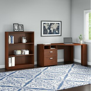Wheaton 2 Piece L-Shape Desk Office Suite by Latitude Run No Copoun