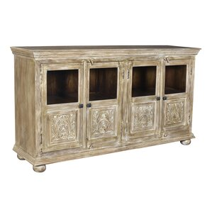 Alaska Mango Wood 4 Door Sideboard by World Menagerie