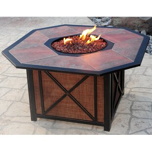 Oakland Living Haywood Aluminum Propane Fire Pit Table