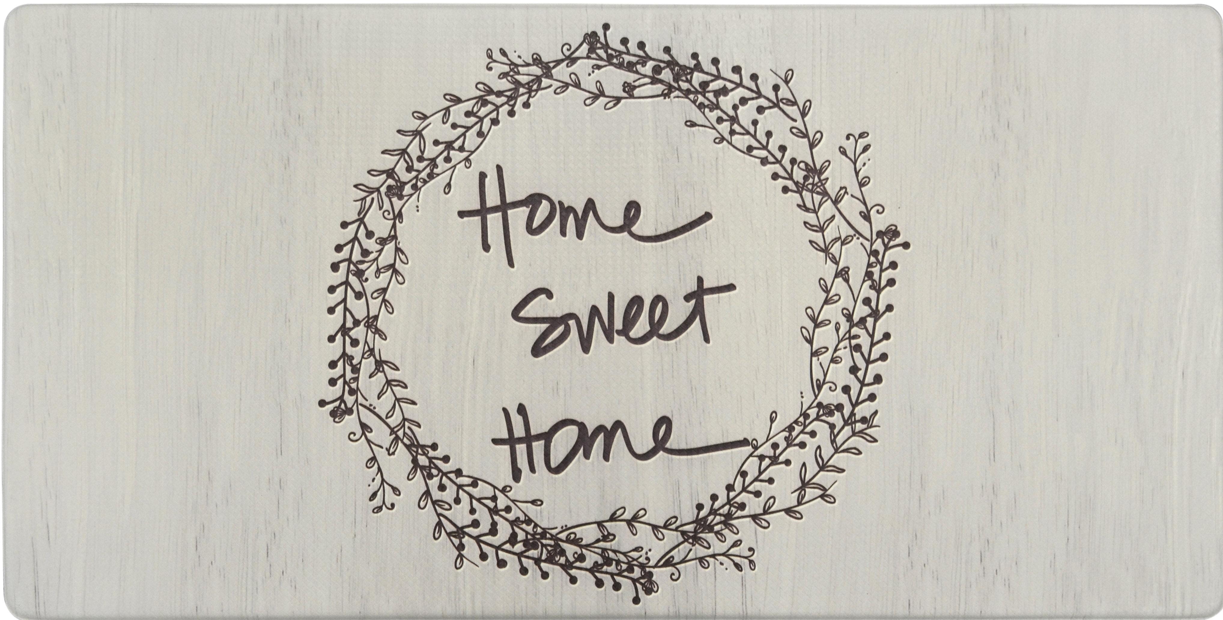 Cook N Comfort Home Sweet Home Wreath Kitchen Mat & Reviews | Joss ...