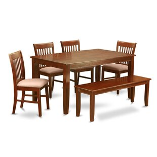 Dudley 6 Piece Dining Set Wooden Importers