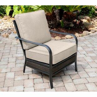 Beard Commercial-Grade Aluminum/Woven Club Chair with Plush Sunbrella Cushions by Charlton Home