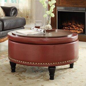 Nice Ellen Eco Leather Storage Ottoman