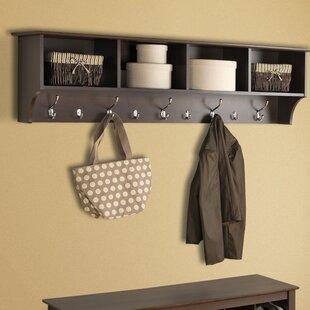 Mackenzie 60 Hanging Entryway 9 Hook Storage Shelf by Zipcode Design