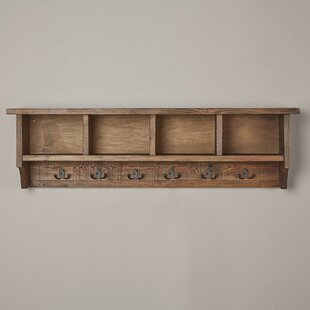 Lachlan Wall Mounted Coat Rack with Storage Cubbies & Rustic Coat Racks u0026 Coat Hooks | Birch Lane